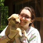 Jenna with pup in Monroe Cnty WV